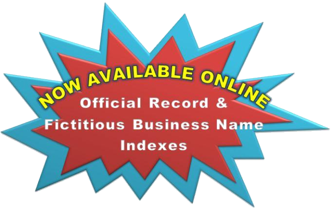 Now available online- official record and fictitious business name indexes scream comic bubble
